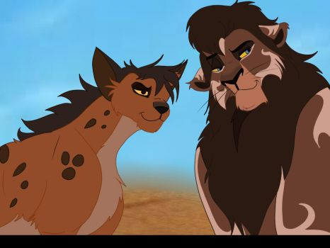 A King And His Adviser- Lukulu and Asante by Brookcresent