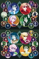 Homestuck 2014 Calendar Covers by SaiyaGina