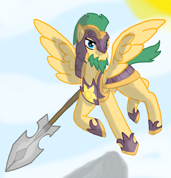 Request: Captain Stalwart Sentry (pony) by zeroviks