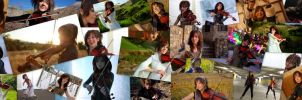 Lindsey Stirling Screens Collage by Bhaal5001