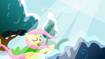 Fluttershy Singing In Winter by Discourt