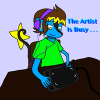 The Artist Is Busy by SmartLuxray