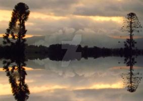 Bushfire Reflected by tablelander