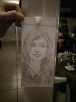 Fast improvised portrait by MarisaArtist