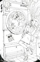 Laundromat of Doom (1): Harley Quinn and Batgirl by NemoNova