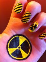 Radioactive Nail Art by HummingbirdHeartbeat