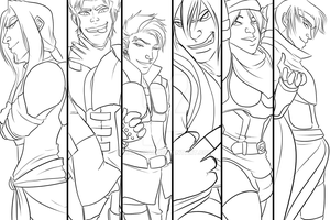 We Are the Shadows - LINEART - by data2048