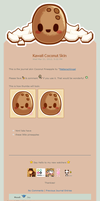 Kawaii Coconut Journal Skin by Metterschlingel