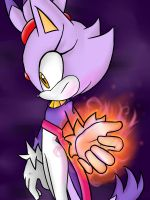 One Hour Sonic - Blazes flames by DanielasDoodles