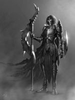 Railla, Cursed Warrior - Character Concept Art by SkavenZverov