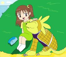Request: Jeri and Armadillomon by Light-girl