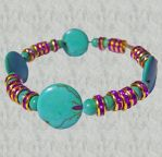 Beautiful Turquoise and Purple Crystal Bracelet by ogstock