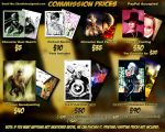 Commission Prices 2011 by ZhouRules