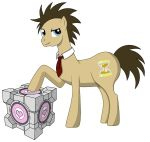 The Doctor and his Companion Cube by prothe