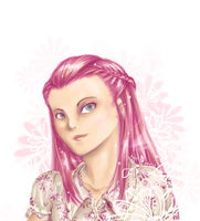 Pink Flowers by ravenwing136