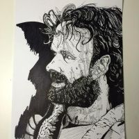Inktober 2014 Rick Grimes by NoriToy