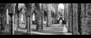 Inside Tintern Abbey - Pano by Wayman