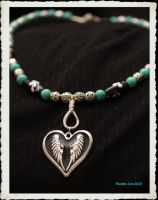 Heart Of Wings Necklace by ParadoxJaneDesigns