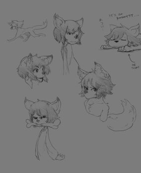 wolfboy doodles by finmeen