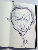 Jeff Goldblum Lunch Time Sketch by DoodleArtStudios