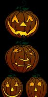 pumpkin carving template photoshop CS5 by Zirkon777