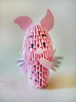 3D origami: Winged Piglet by Weezaround