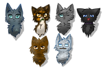warrior cat headshots! by Mythic-Flame