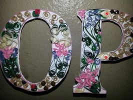 paper quilled name - close up by wholedwarf