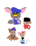 NonDisney Bats and Mice: Hats by disneyfangirl774