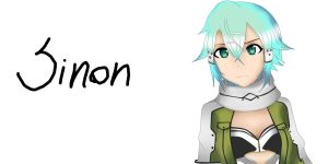 Sword Art Online Sinon color by Replay-manga