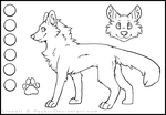 Free Canine Lineart. by psykii