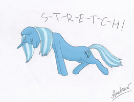 Yoga with Trixie: Pony Lift by GreenGimmick