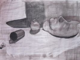 O.D. Class - Still life Charcoal by Reploid-Man