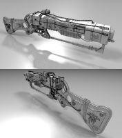 Modified AER14 Prototype (Fallout: New Vegas) by borysked