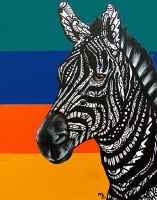 Zebra Tangle by MayhemHere