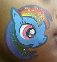 Rainbow Dash Face Painting by AlicornLover