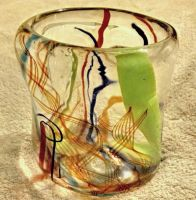 Exotically Colorful Cane Cup by zultan11
