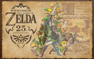 Zelda 25th Anniversary Wallpaper by Marth89