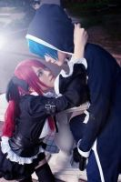 Jellal and Erza cosplayer by JessiecaYeo