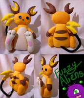 Raichu Plush -For Sale- by FuzzyAliens