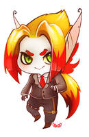 Nagi - Chibi commission by clover-teapot