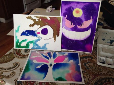 Newest watercolor pieces !  by Lucianthinus