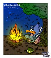 Chuck and Mike - By the Campfire by michaelheuvel
