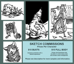 Sketch Commissions by Mongrelistic