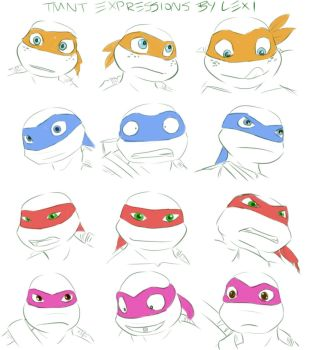 TMNT Expressions by Fulcrumisthebomb