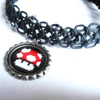 Mario Mushroom Hemp Necklace by Phathemp