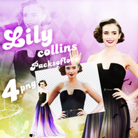 PNG PACK (98) Lily Collins by DenizBas