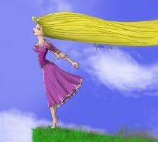 Tangled - Rapunzel Colored by Cyntendo