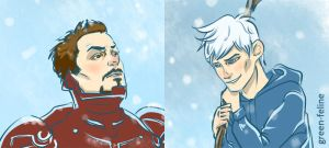 Tony Stark | Jack Frost by green-feline