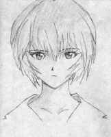 Rei Ayanami Sketch by Jompie